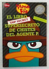 Disney Phineas and Ferb El Libro Supersecreto De Chistes Del Agente P (2011) HTF