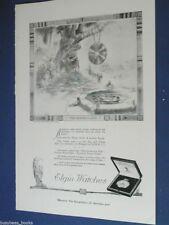 1920 Elgin Watch advertisement page, ELGIN Pocket Watch, Egyptian Water Clock