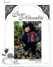 "Sew Adorable Doll Clothes Pattern, fits 18"" American Girl,  Mondrian Jacket"