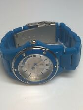 Juicy Couture Ladies Blue Quartz Watch Plastic And Stainless Steel