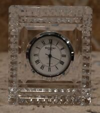 "VINTAGE WATERFORD CRYSTAL CLOCK~NICE PREOWNED CONDITION~3""x2.5""~FUN PAPERWEIGHT"