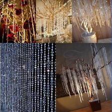 99FT Wedding DIY Garland Diamond Clear Acrylic Crystal Beads Strand Party Decor