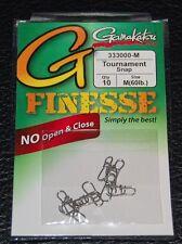 10 Pack Gamakatsu 333000-M G Finnesse Tournament Snap - Medium