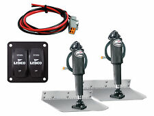"""09x12"""" complete standard mount trim tab kit 12V (switch included) - LENCO"""