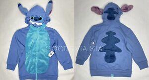 Disney Parks Youth Boys Girls S Stitch Full Zip Hoodie Jacket Costume Cosplay