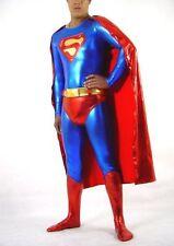 Metallic blue&Red New lycra spandex zentai Unisex costume Superman S-XXL