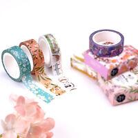 7M DIY Flower Washi Sticker Home Decor Roll Paper Masking Adhesive Tape Crafts