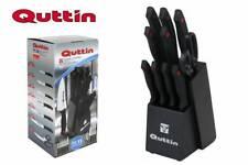 Quttin knive block set - 11 parts - black