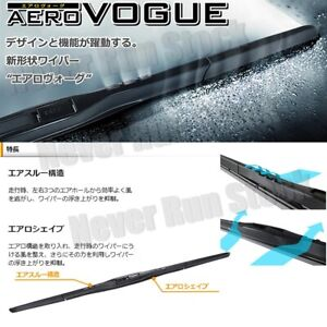 """MADE IN JAPAN"" PIAA AERO VOGUE SILICONE WINDSHIELD WIPER BLADES 19"" 19"" SET"