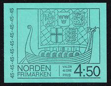 SWEDEN (H220) Scott 810a, Nordic Ship booklet, VF