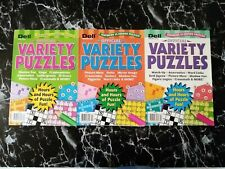 Penny Dell Puzzles Official Variety Magazines 3 Issues Lot 2