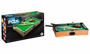 Kids Play Table Top Tournament Pool Table Game 2 Players Ages 10+