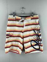 Quicksilver Men's Board Shorts - Beach Bathers - Size 30 - Stripe