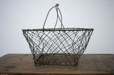 Vintage Wire Egg Gathering Basket Country Kitchen Farm