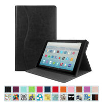 For Amazon Fire HD 10 (7th Generation, 2017) Case Slim Stand Cover with Pocket