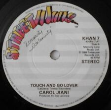 """CAROL JIANI - TOUCH AND GO LOVER 7"""" VINYL 1980s DANCE CLUB STREETWAVE RECORDS NM"""