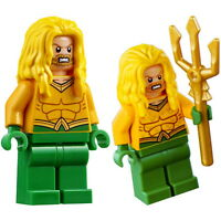 LEGO Aquaman Minifigure Marvel Batman Super Heroes + Trident 76116
