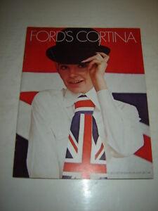 1969 English Ford Cortina Showroom Sales Brochure