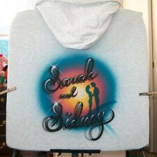 Airbrushed T-shirt CIRCLE LOVERS SCENE all sizes to 6X