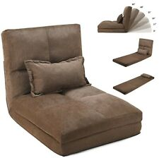 Lazy Chair Floor Sofa Foldable Couch Bed Recliner Japanese Brown Leisure Sofas