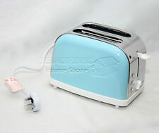 Turquoise 900W 2 Two Slice Wide Slot Toaster Quick Toast Defrost Reheat Function