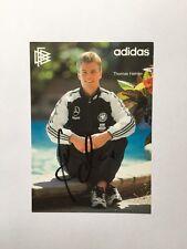 Autogramm THOMAS HELMER-DFB-Karte-NS BRD-Ex-Hertha/BVB/Arm.Bielefeld-AK
