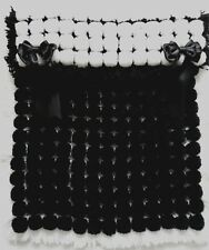 BLACK & WHITE POM POM TURNOVER BABY BOY OR GIRL BLANKET WITH REMOVABLE BOWS