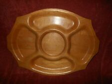 Mid Century Modern STANWOOD TRAYS Solid Maple Wood Cheese Tray Candy Nuts Dish