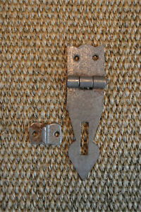 Antique style iron box hasp and staple lock chest locking plate HS1