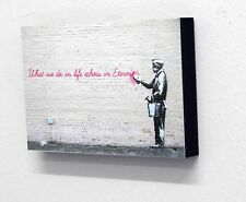 "6"" X 4"" (postcard size) Block Mounted Print Banksy What We Do In Life"