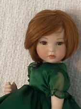 Marie Osmond Doll approx 15 inch w/ Stand Green Dress