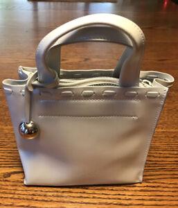 White Pearl Furla Leather Mini Bag