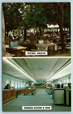 Postcard MD Pasadena Kurtz Pleasure Beach Chesapeake Bay Picnic & Dining Bar X2