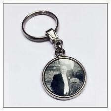 Photo Memory Charm / Key Ring - Personalised Double Sided Keepsake Pendant Gift
