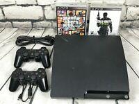 """Sony PS3 Playstation 3 """"Slim"""" *250gb* (CECH-2001B) Gaming Console BUNDLE + BONUS"""