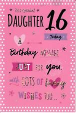 Beautiful Greeting Card For A Special Daughter On Your 16th Birthday