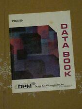 Dpm Dense Pac Microsystems Data Book 1988 1989