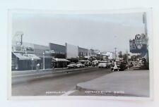 1950s Main St Roseville CA RPPC Street View Postcard Real Photo Eastmans Studio