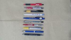 Lot of 10 Assorted Airlines Collectible Ballpens