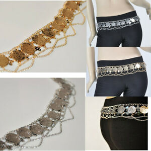 Belly Dance Clothing Hip Belt Coin Waist Chain Accessories Silver Gold