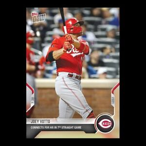 2021 TOPPS NOW® # 585 JOEY VOTTO HR In 7th Straight Games Cincinnati Reds