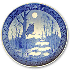 "1974 Royal Copenhagen Christmas Plate. ""Winter Twilight"""