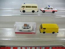 l97-0,5 #4x HERPA H0, DRK ambulanza VW LT, TRABANT Tour, BMW 528 i, TOP