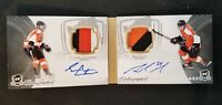 2011-12 UD THE CUP DUAL AUTO SEAN COUTURIER MATT READ ROOKIE AUTO PATCH #ED 4/25
