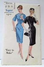 "Vtg Vogue Misses Sewing Pattern 9956 1960's Style Wiggle Dress Size 12 32"" Bust"