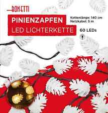 60 LED Piña de pino Guirnalda luces 6m Decoración La Navidad Iluminación Ventana