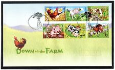 2005 Australia Down On The Farm Set Of 6 FDC, Mint Condition