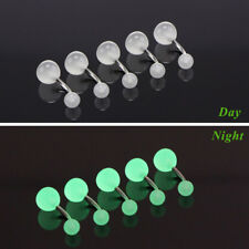 7pcs/set Luminous Belly Button Navel Bar Rings Body Piercing Glow In The Dark