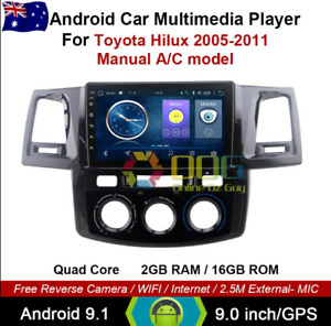 """9"""" Android 10.1 Quad Core Car Non DVD GPS For Toyota Hilux 2005-2011 Head Unit"""