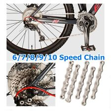 Bicycle Chain 6, 7,8,9,10,11 Speed Gear Mountain Bike Road Hybrid Cycle Sliver